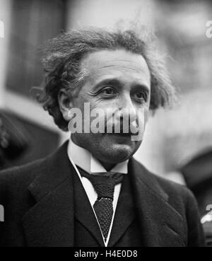 Albert Einstein (1879-1955) in Washington DC, c.1921-1923 - Stock Photo