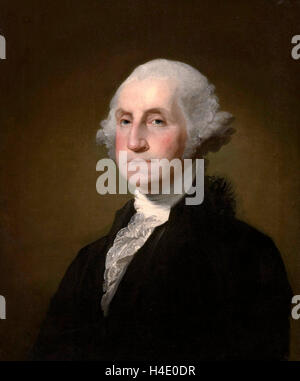 George Washington. Portrait of US President George Washington by Gilbert Stuart, 1797 - Stock Photo