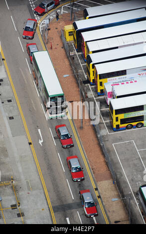 street scene Victoria island Hong Kong - Stock Photo