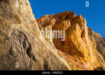 Alum Bay cliffs, Isle of Wight, UK - Stock Photo