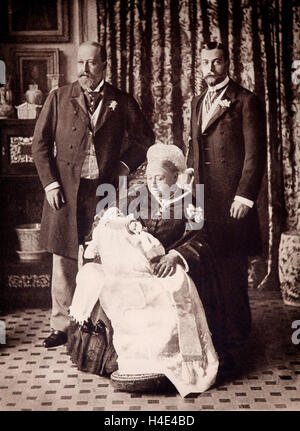 June 23rd 1894, a son Edward was born to the Duke and Duchess of York - later Prince of Wales the King George V - Stock Photo