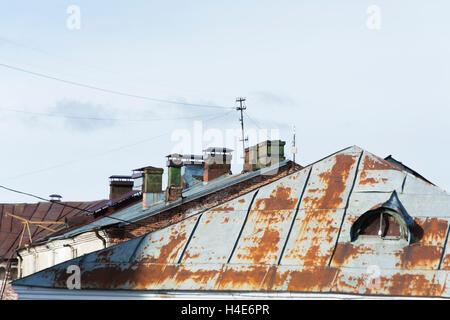 Rusty Tin Roofs - Stock Photo