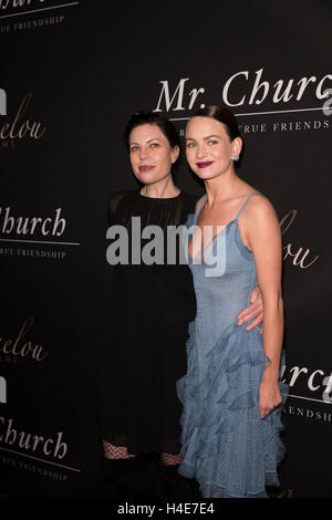 Susan McMartin, Britt Robertson arrive at Premiere Of Mr. Church at Arclight Theater in Hollywood on September 6th, - Stock Photo