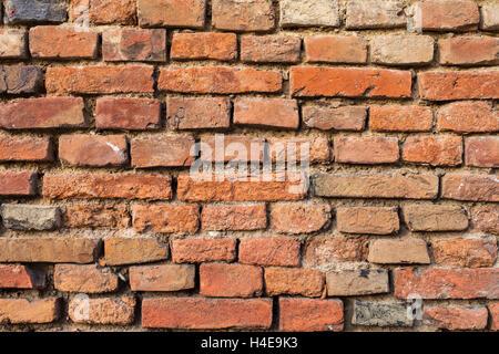 Old brick walling, recorded in village Vösen, Lower Austria, Austria, - Stock Photo