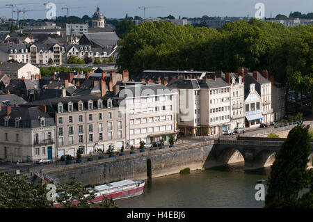 Angers, the city on the Maine river bank, maine and Loire Valley, France. - Stock Photo