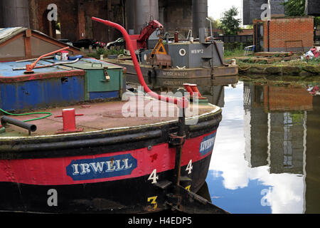 The Irwell Leeds & Liverpool Canal Shortboat Irwell at Castlefields, ,Manchester,England,UK - Stock Photo