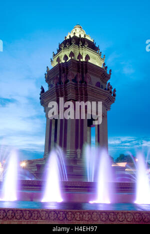 Cambodia, Phnom Penh, Independence Monument - Stock Photo