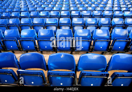 Seating in the stands prior to the Premier League match at The Hawthorns, West Bromwich.