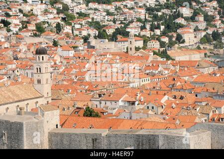The rooftops of  the Old Town, Dubrovnik, Croatia. - Stock Photo