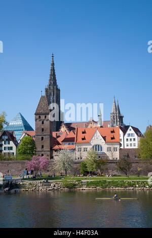 Cityscape, Danube, Ulm, Baden-Wuerttemberg