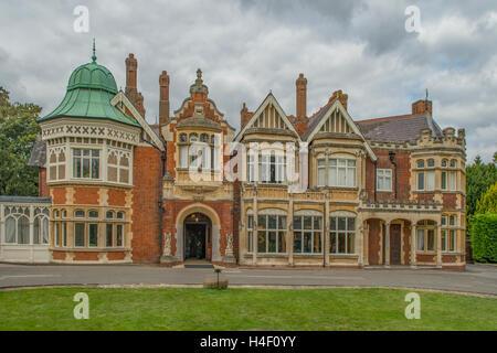 Bletchley Park Mansion, Milton Keynes, Buckinghamshire, England - Stock Photo