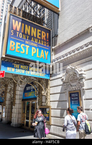 Manhattan New York City NYC NY Midtown Broadway theater district The Curious Incident of the Dog in the Night-Time - Stock Photo