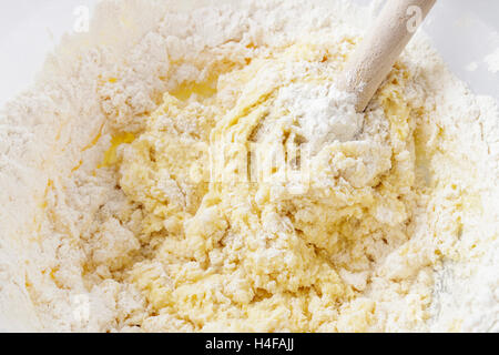 Steps of making cake. Cooking time - Stock Photo