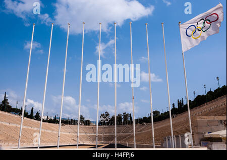 Athens, Greece. The Panathenaic Stadium hosted the first modern Olympic Games in 1896. - Stock Photo