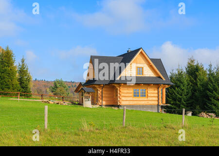 Old polish white wooden house with thatched roof from mazowsze open stock photo royalty free - Traditional polish houses wood mastership ...