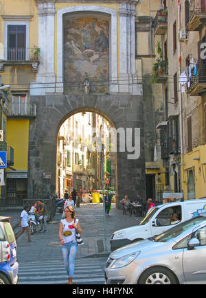 The Porta San Gennaro is one of the ancient gates of the city of Naples, Italy - Stock Photo