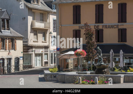 Arreau in the  Hautes Pyrenees department of  France - Stock Photo