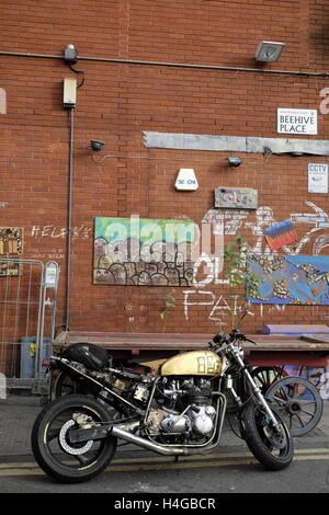 Brixton, London, UK. 15th Oct, 2016. Art works in Behhive Street, Brixton, Uk. Credit:  Luigi Petro/Alamy Live News - Stock Photo