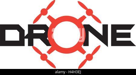 Drone Logo Concept Design. AI 10 Supported. - Stock Photo
