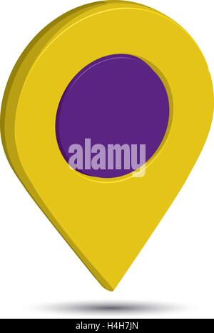3D Pin Icon Design, EPS 10 supported. - Stock Photo