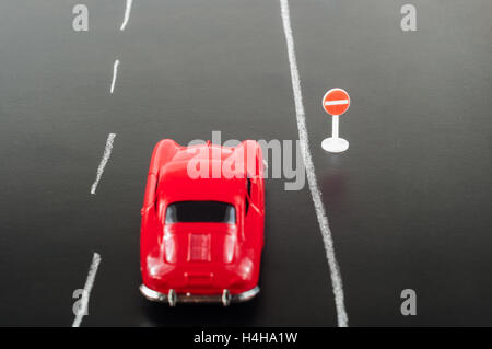 Toy cars on road - Stock Photo