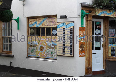 Fish and Chip Shop, Appledore, North Devon, England. - Stock Photo