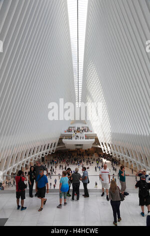 New Westfield WORLD TRADE CENTER Mall, Lower Manhattan, New York, USA - Stock Photo