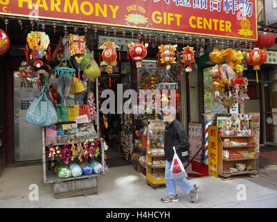 Shop in China-Town, Manhattan, New York, USA - Stock Photo