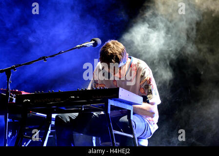 BARCELONA - MAY 28: James Blake (electronic music producer and singer) performs at Primavera Sound 2015 Festival. - Stock Photo