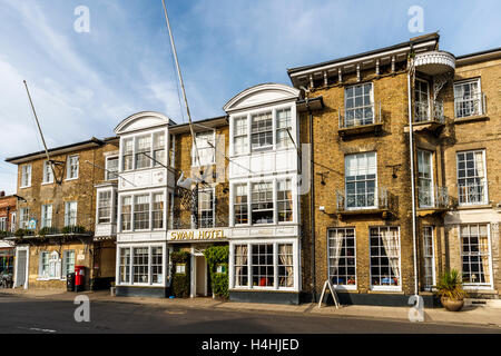 The Swan Hotel in the town centre of Southwold, Waveney District, Suffolk, East Anglia, UK - Stock Photo