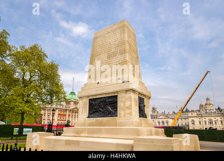 Guards Memorial dedicated to the five Foot Guards regiments of the Great War - Stock Photo