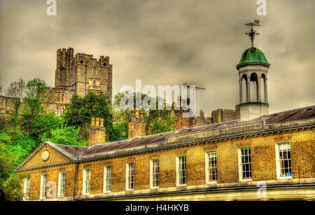 View of Windsor Castle over St George's School - England - Stock Photo