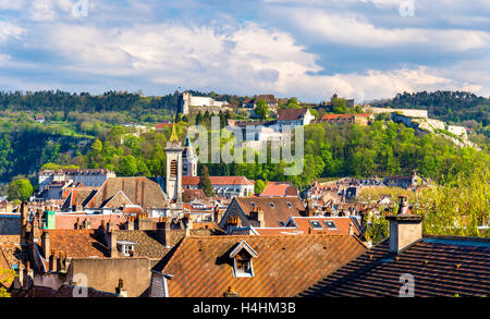View of the old town of Besancon - France, Doubs - Stock Photo
