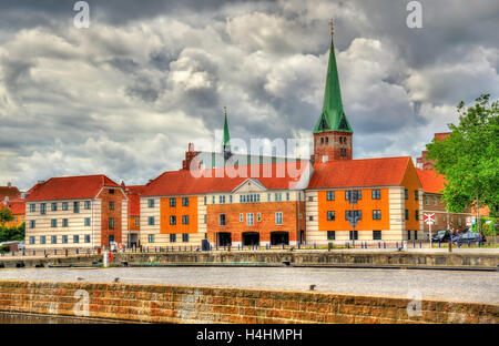 View of Saint Olaf Church in Helsingor, Denmark - Stock Photo