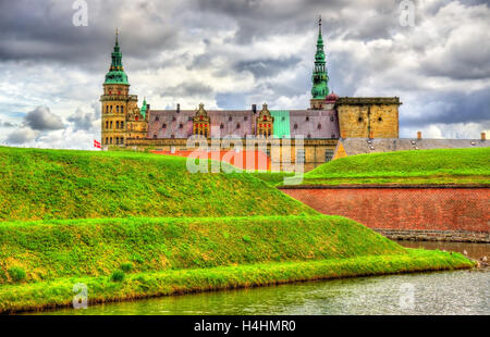 Kronborg Castle, known as Elsinore in the Tragedy of Hamlet - Denmark - Stock Photo