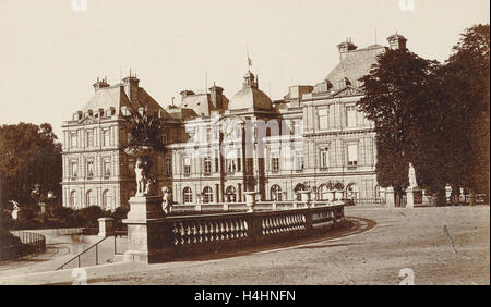 Exterior of the Palais du Luxembourg in Paris, France, Anonymous, 1878 - 1890 - Stock Photo