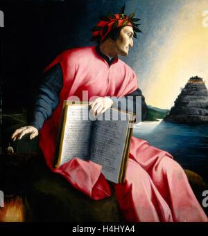 Florentine 16th Century, Allegorical Portrait of Dante, late 16th century, oil on panel - Stock Photo