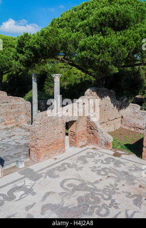 terme di nettuno Ostia Antica Rome Italy - Stock Photo