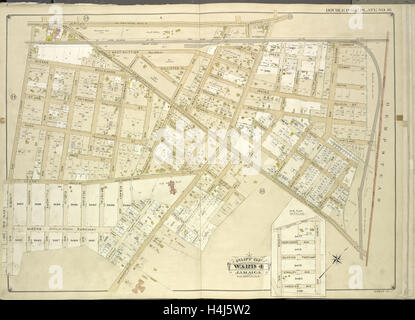 Queens, Vol. 1, Double Page Plate No. 16; Part of Ward 4; Jamaica; Map bounded by Jericho Turnpike, Hempstead - Stock Photo
