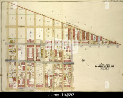 Brooklyn, Vol. 3, Double Page Plate No. 26; Part of Wards 27 & 28, Section 11 - Stock Photo