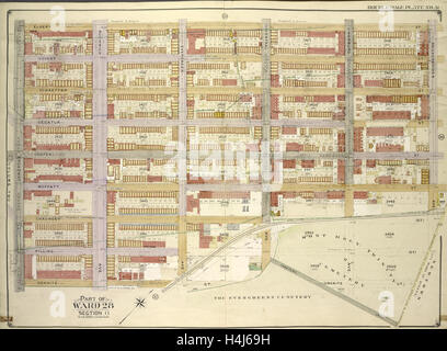 Brooklyn, Vol. 3, Double Page Plate No. 31; Part of Ward 28, Section 11; Map bounded by Eldert St., Knickerbocker - Stock Photo