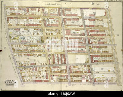 Brooklyn, Vol. 4, Double Page Plate No. 15; Part of Ward 26; Sections 13; Map bounded by Elderts Lane, Atlantic - Stock Photo