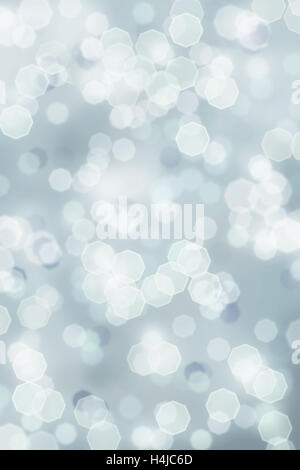 Bright sparkle abstract background of retro tinted Christmas holiday lights toned a blue gray color. - Stock Photo