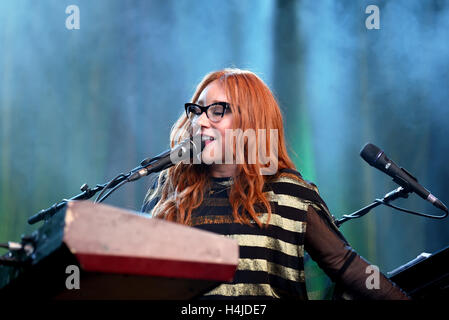 BARCELONA - MAY 30: Tori Amos (singer, songwriter, pianist and composer) performs at Primavera Sound 2015 Festival. - Stock Photo