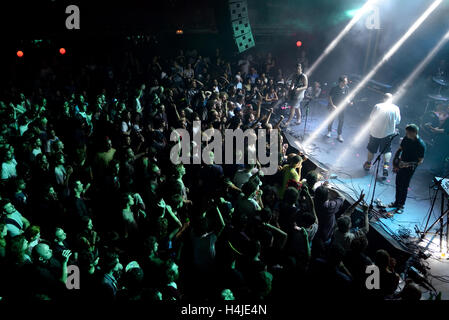BARCELONA - JUN 1: Crowd at Primavera Sound 2015 Festival on June 1, 2015 in Barcelona, Spain. - Stock Photo