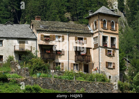 Fusio, Lavizzara, Ticino, Switzerland, Europe - Stock Photo