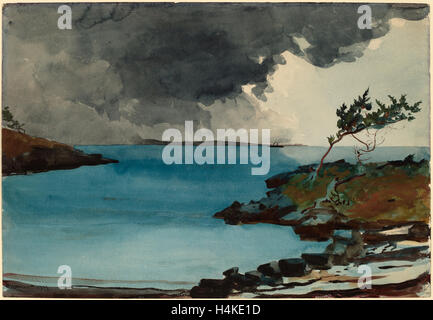 Winslow Homer, The Coming Storm, American, 1836 - 1910, 1901, watercolor over graphite - Stock Photo