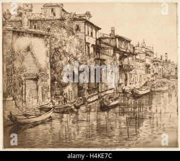 Donald Shaw MacLaughlan, Venetian Noontide, Canadian, 1876 - 1938, probably 1916, etching - Stock Photo