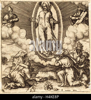 Léonard Gaultier, French (1561-1641), The Transfiguration, probably c. 1576-1580, engraving - Stock Photo
