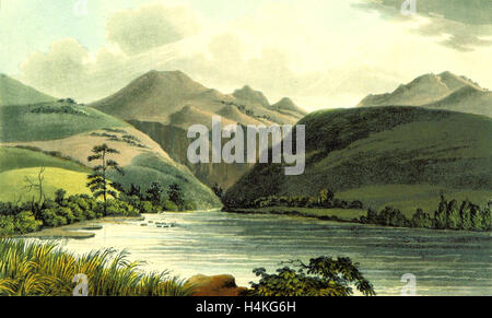 View of the Chasm through which the Platte issues from the Rocky Mountains, 1823 - Stock Photo